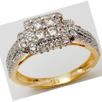Fine Gold Diamond Ring Jewellery