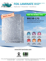 Fire retardant air bubble aluminium foil