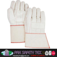Heavy Mitten/Cotton Terry Cloth Knit Wrist Gloves Double Palm