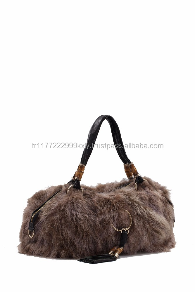 Racoon Fur High Quality Luxury Women Handbag