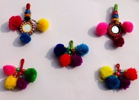 Xmas Offer Banjara key chain Handmade old Banjara Indian tassels key chain with pom pom