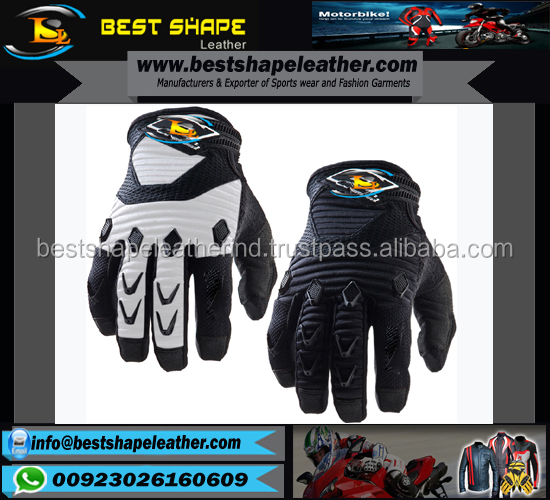 Cow Hide Riding Motorbike Racing Gloves