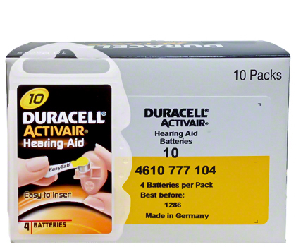 hearing aid battery duracell easy tab germany made zinc air hottest selling