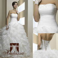 French design Ball Gown Wedding Dress / Gown Organza Shuttlecocks Drapery