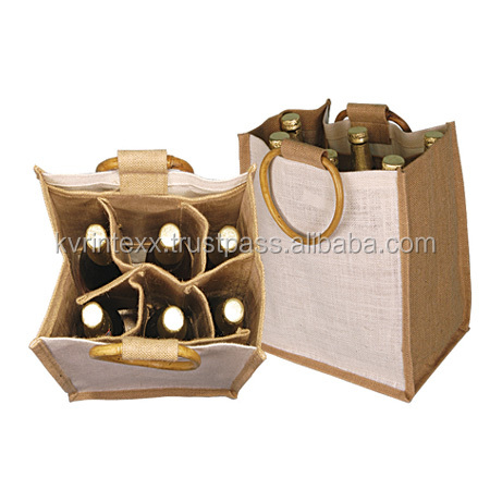 2016 high quality jute wine bag