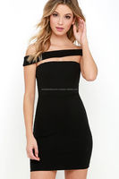 Modern Take Black Off-the-Shoulder Dress