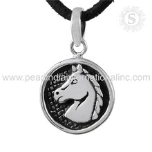 Renowned Handmade Silver Horse Pendant 925 Sterling Silver Jewelry Wholesale Supplier