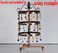 "Round Earrings 72-Holes Revolving Jewelry Display Stand Holder 23cm x11cm(9"" x4 3/8""), sold per packet of 1"