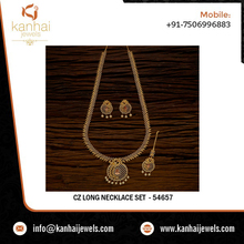 Wholesale cz necklace set and traditional indian artificial jewellery at best prices shipping worldwide, cz wholesale - 54657