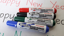 Whiteboard Marker with Bullet Tip - Assorted, Pack of 4