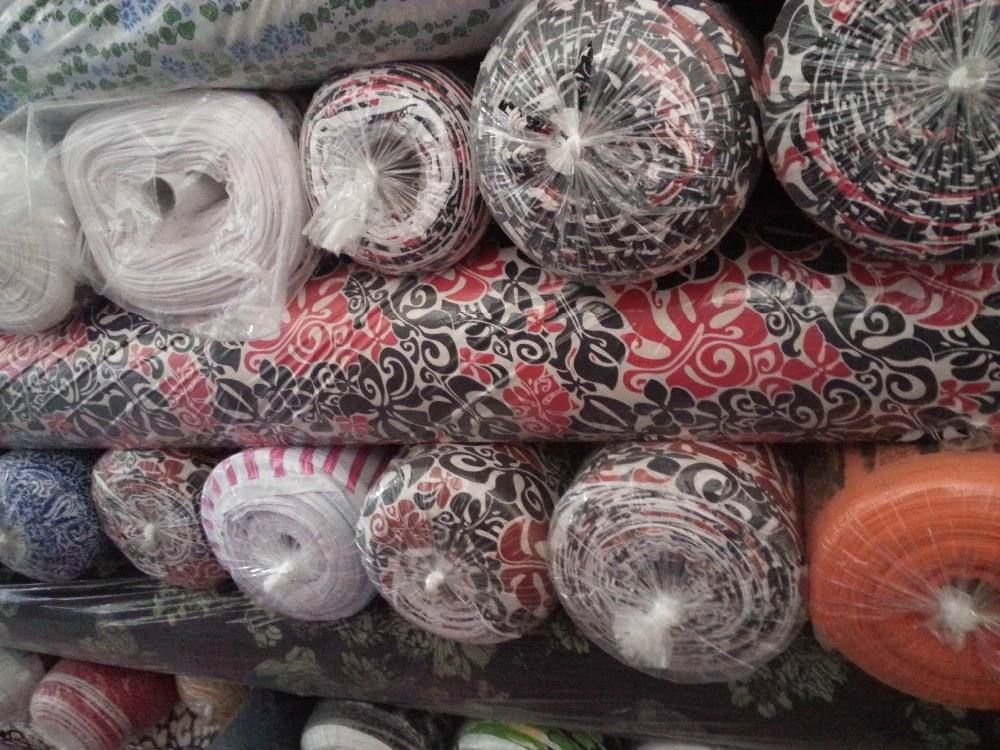 Spandex knit fabric Stock lot Textile in printed spandex knit Fabric