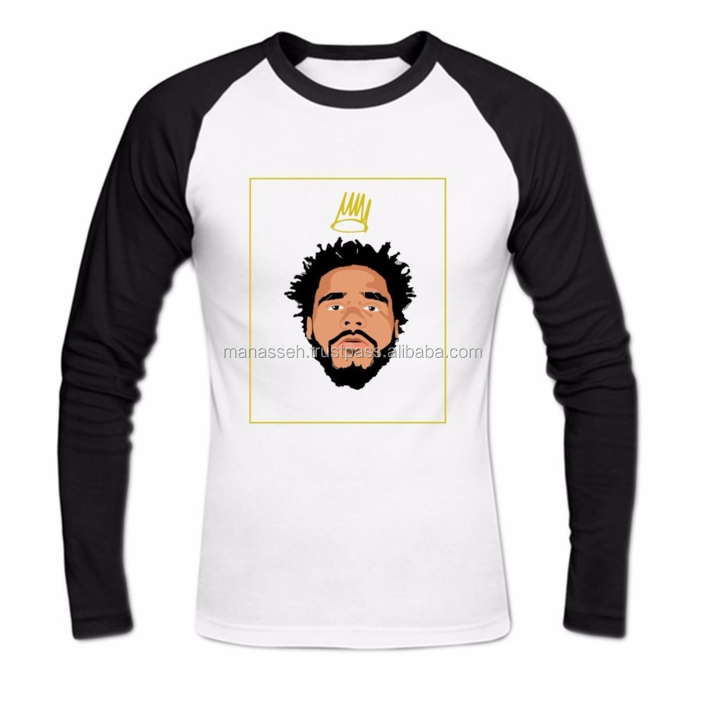 Men's J Cole Long Sleeve Baseball Shirt XXXL White