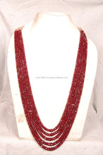 Ruby simple design beaded necklace