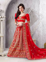 Red color Velvet Lehnga Choli