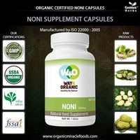 The ISO Certified Noni Capsules From No1 Indian Producer For Bulk Export