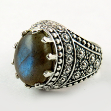 Lucky !! Blue Labradorite Sterling Silver _925 Ring Wholesale