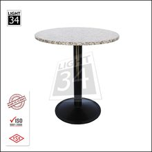 Outdoor Indoor Furniture Round Restaurant Table Granite Top Dinner Table
