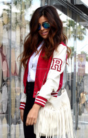 Faux Leather Letterman Women Varsity Jackets From Boston Industries