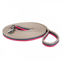 LUNGING REINS TRAINING AID LUNG LINE LUNGING ROPE 8 & 4 METER IN PINK GREY BEIGE