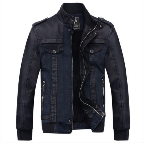 Men Style Black Genuine Leather Jacket Fashion Leather Jackets