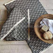 zig zag disign indian dhurries bath mat