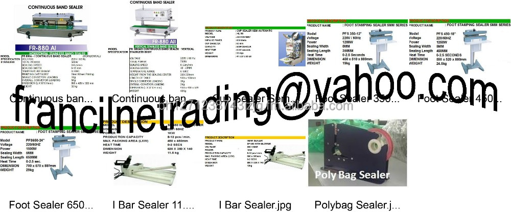 Foot Sealer Band Sealer, Shrink Wrap, Plotter Paper, PP Strap, Stretch Wrap, Circlip Bubble Wrap Tools, Construction Equipment,