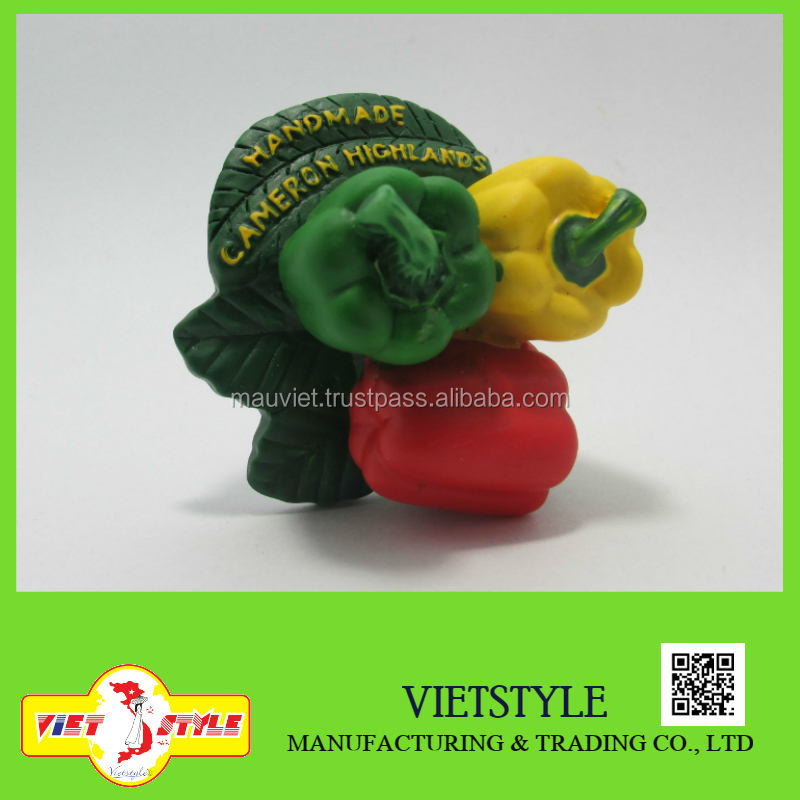 Polyresin figurine vegetables fridge magnet / Bell pepper fridge magnet souvenir