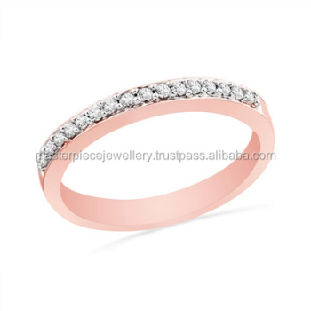 TV Channel 1/10 CT 10K rose gold Diamond ForeverBonds Diamonds men eternity princess cut engagement rings