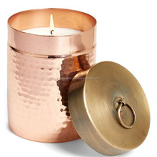 Polished Copper Candle jar/Votive Candle Holder With Lid/ For Wedding Decorations Wholesale India