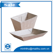 Carton box fast food packaging box in kraft paper