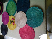 Assorted color hand woven seagrass placemat high quality cheap price wicker table ware made in Vietnam