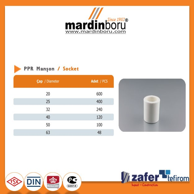 MARTHERM PPR Pipe Socket