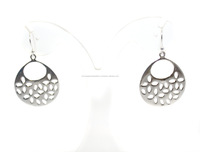 Plain Silver Plated 925 Sterling Silver Earrings for Women