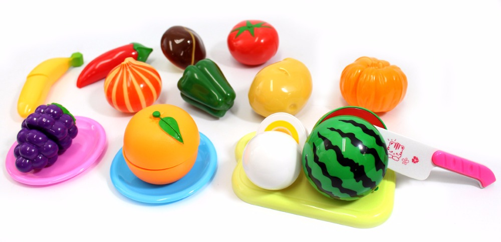 Kitchen Fun Cutting Fruits & Vegetables Food Playset