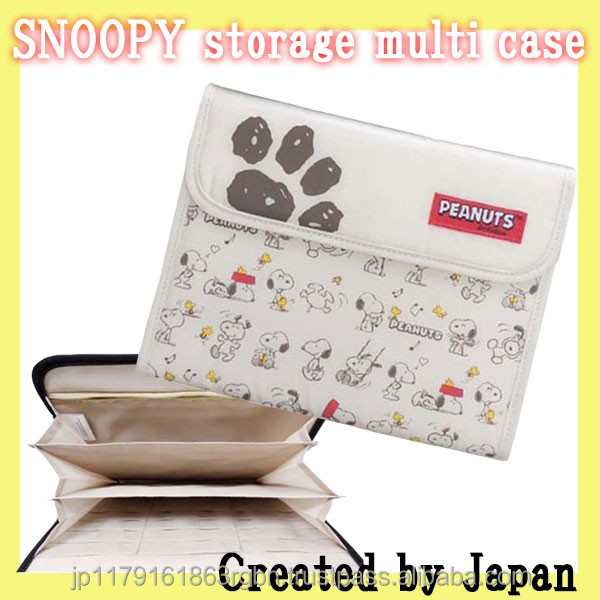 Popular and Durable SNOOPY designed receipt book with large pocket created by Japan