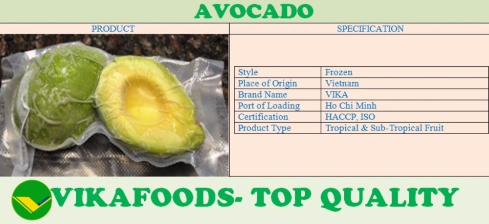 FROZEN AVOCADO EXPORT FOR SALE WITH BEST PRICE&GOOD QUALITY.