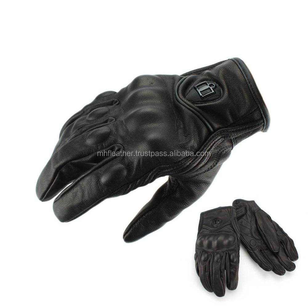 Motorbike leather Gloves 886