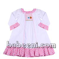 Lovely bunny hand smocked night dress