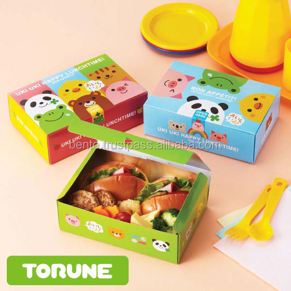 cute and High quality food packaging boxes with cute design desposable
