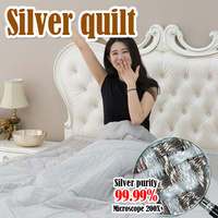 Functional Bedding Silver quilt