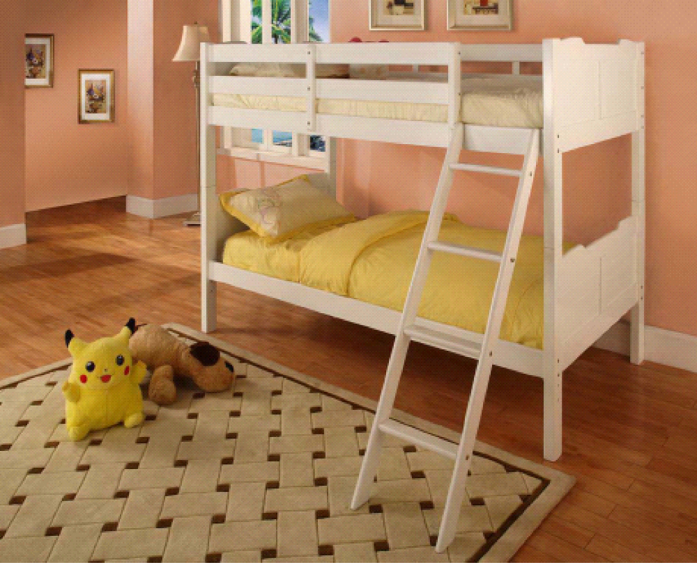 CGI 3043 TWIN TWIN BUNK BED, KIDS BUNK BED, CHILDREN BED, WOODEN BUNK BED, SINGLE BUNK BED