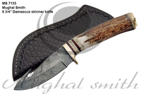 Damascus skinner knife/Hunting knife/Deer stag
