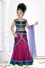 Deep Pink color benaras cloth all over stylish lehenga sizzling Girls Ready Made