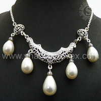 Sweetness & Romance !! Pearl 925 Sterling Silver Necklaces ! Wholesaler Silver Jewellery ! Handmade Silver Jewellery NKCB2023-3