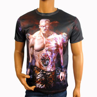 2015 spring jungle all over sublimation printing t shirts