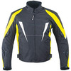 Textile Motorcycle Cordura Jacket in black .Yellow, and white shade in made of sailkot Fast Go Industries