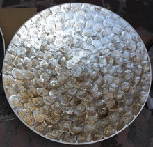 High quality best selling natural mother of pearl 60cm round plate