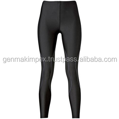 Plain Black Compression Wear Gym Leggings