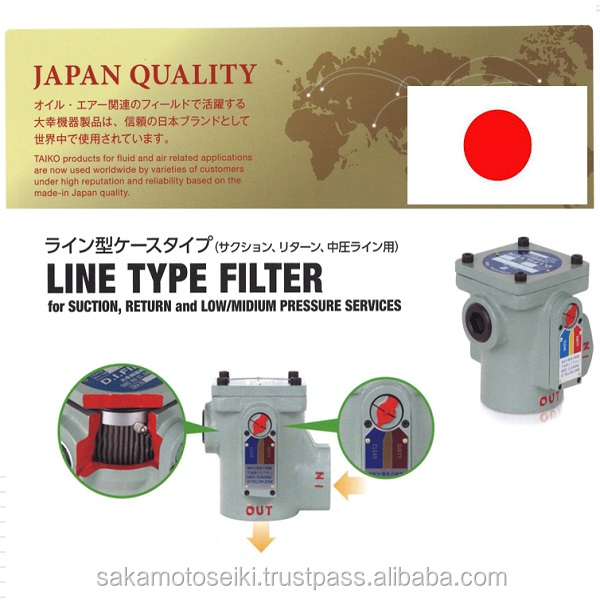 High quality and Famous for Japan hydraulic filter element TAIKO FILTER contribute from Japan