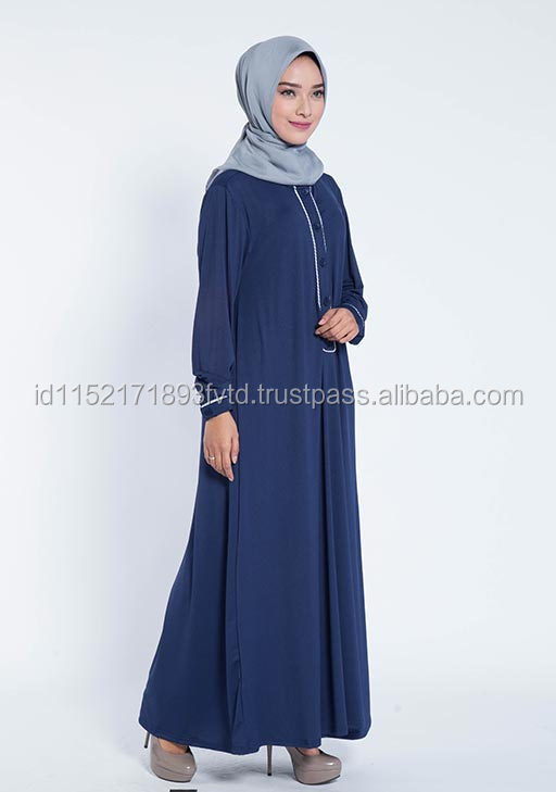Best Selling Product Dress Elzatta Gamis Bis Blink A SN Navy Hijab For The World